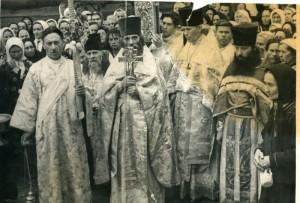Крестный ход на Пасху 1917г.